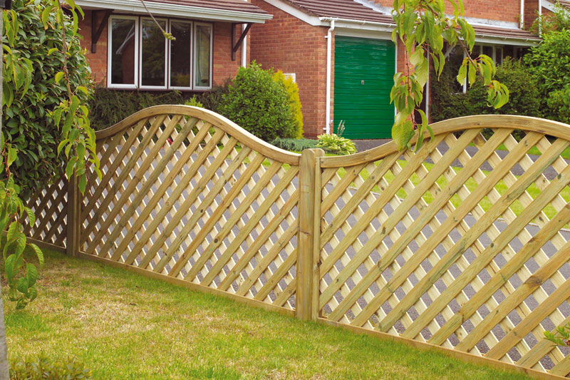 Fence panels empress fencing clitheroe lancashire for How to build a lattice screen fence