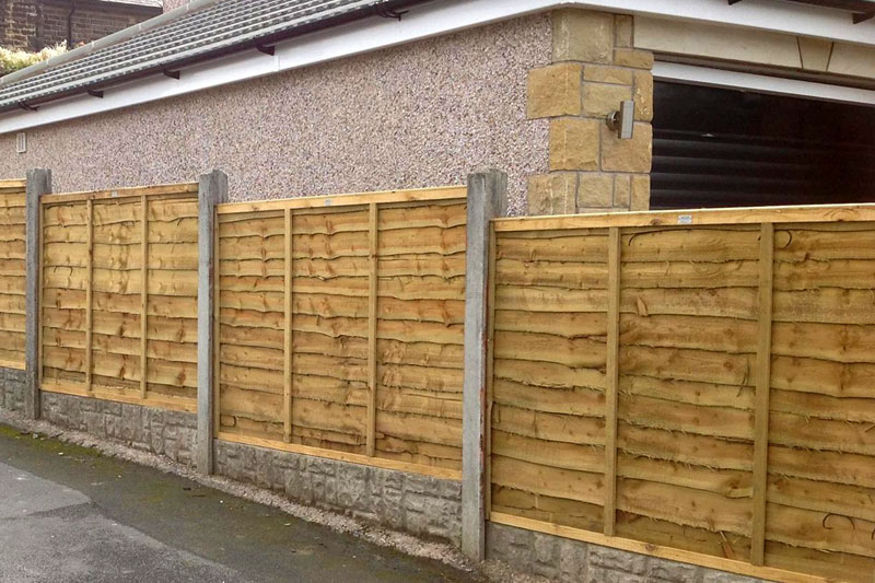 Waney Lap Panel Empress Fencing Clitheroe Lancashire