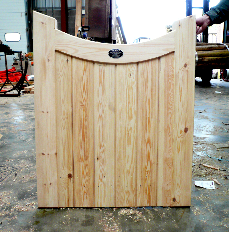 Framed part solid dipped top gate