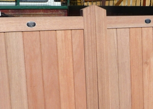 Framed solid flat top driveway gate