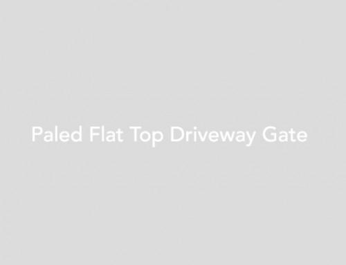 Paled Flat Top Driveway Gate