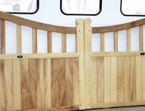 Framed Part Solid Dipped Top Driveway Gate