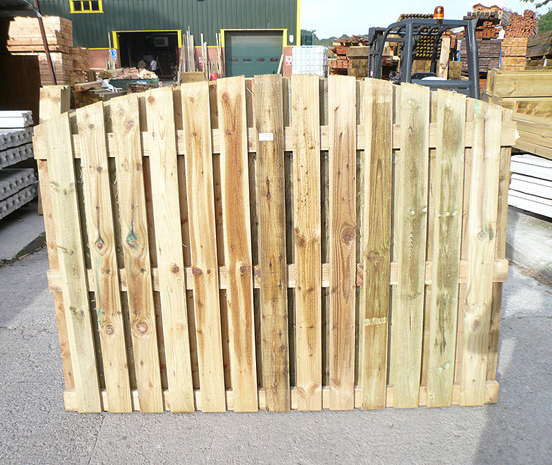 Double-sided palisade edge panel