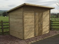 Bespoke shed without windows by Empress Fencing