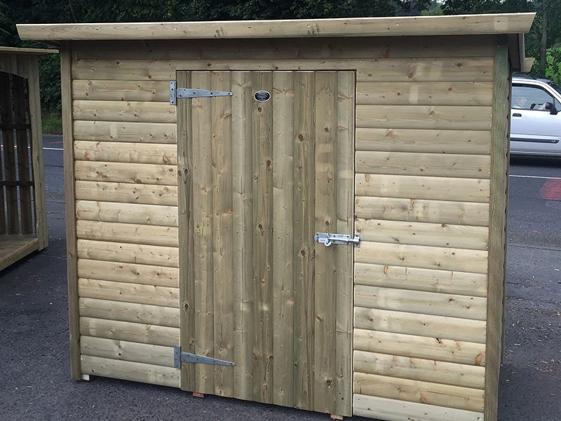 Store with door - bespoke shed by Empress Fencing